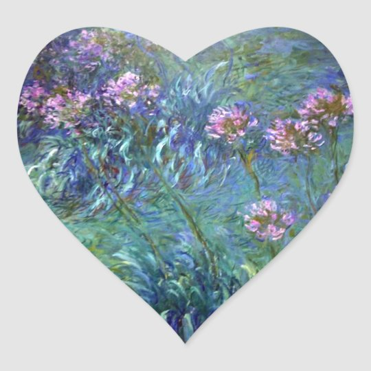 Monet Fine Art Flowers Agapanthus Sticker