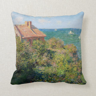 Monet: Fisherman's Village at Varengeville artwork Cushion