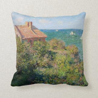 Monet: Fisherman's Village at Varengeville artwork Throw Pillow