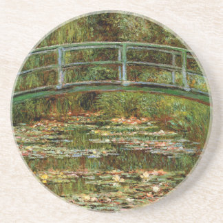 Monet French Japanese Bridge Impressionist Coaster