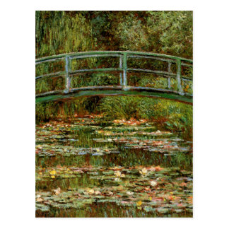 Monet French Japanese Bridge Impressionist Postcard