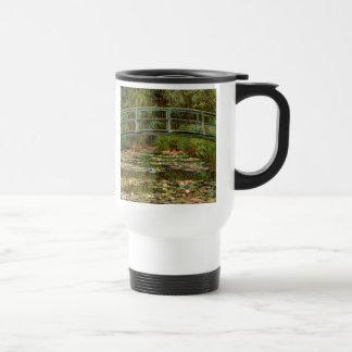 Monet French Japanese Bridge Impressionist Travel Mug