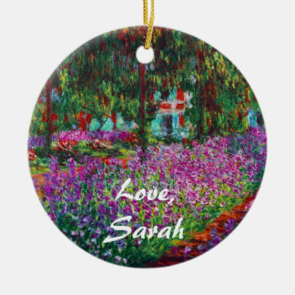 Monet Garden in Giverny Fine Art Ornament