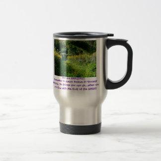 Monet Garden You are AMAZING!! double side Travel Mug