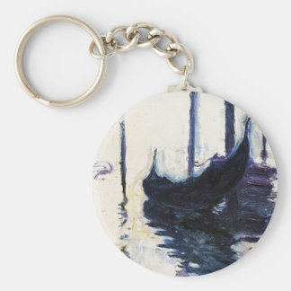 Monet Gondola In Venice Basic Round Button Key Ring