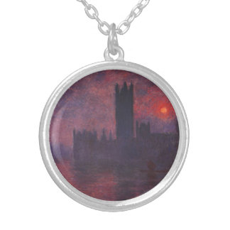 Monet Houses of Parliament at Sunset Necklace