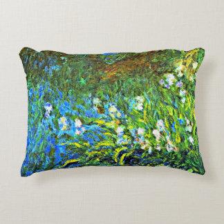 Monet - Iris at the Sea Wall Decorative Cushion