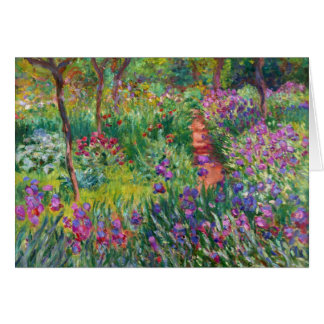 Monet Iris Garden at Giverny Note Card