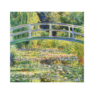 Monet Japanese Bridge with Water Lilies Gallery Wrap Canvas
