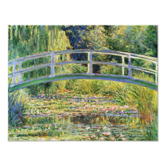 Monet Japanese Bridge with Water Lilies Invitation