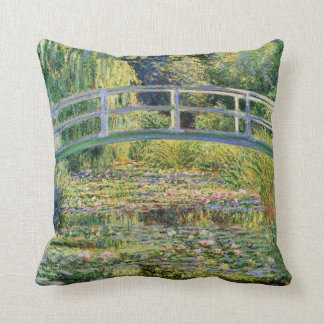 Monet Japanese Bridge with Water Lilies Pillow