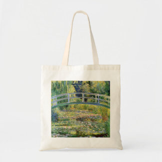 Monet Japanese Bridge with Water Lilies Tote Bag