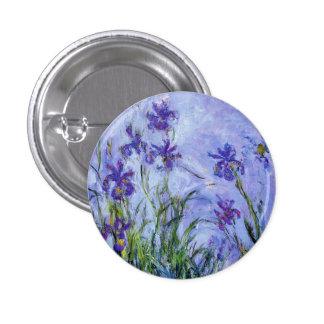 Monet Lilac Irises Button