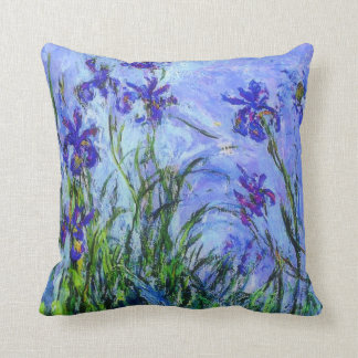 Monet - Lilac Irises Cushion