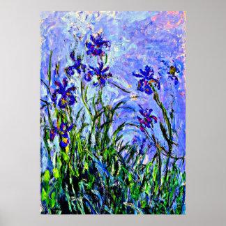 Monet - Lilacs and Irises Poster