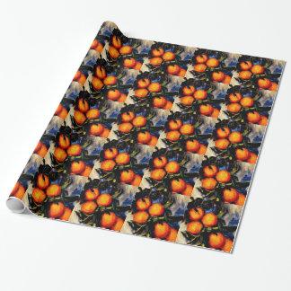 Monet - Orange Branch Bearing Fruit Wrapping Paper
