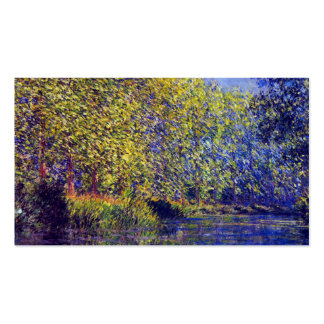 Monet painting bend in Epte river near Giverny Double-Sided Standard Business Cards (Pack Of 100)
