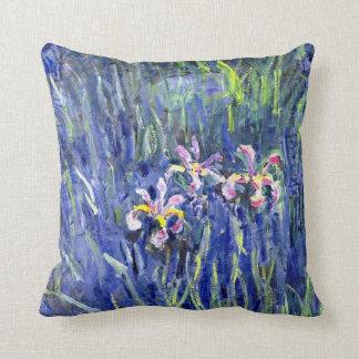 Monet Painting - Irises 2 Cushion