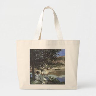 Monet Painting Large Tote Bag