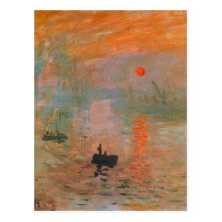 Monet Painting Postcard