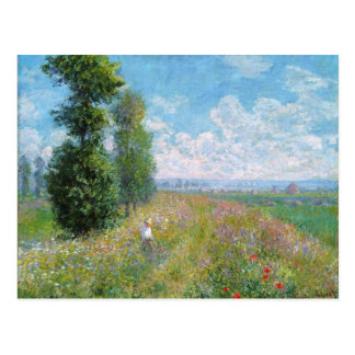 Monet Painting Postcard