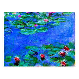 Monet painting: Water Lilies Postcard