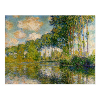 Monet - Poplars on the Banks of the River Epte Postcard