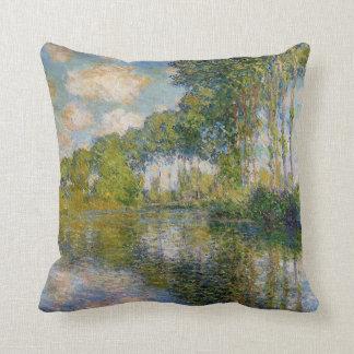 Monet Poplars on the River Epte Pillow