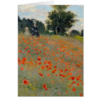 Monet Poppies Greeting Card