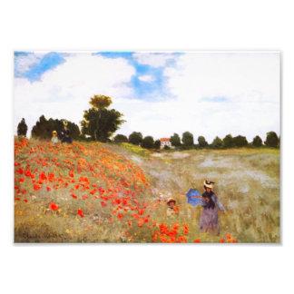 Monet Poppies Photographic Print