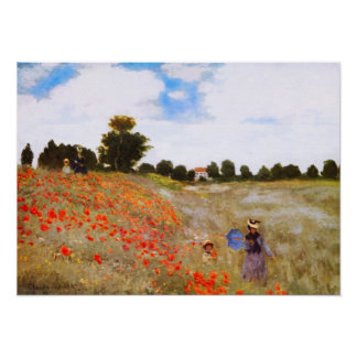 Monet Poppies Poster