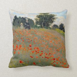 Monet Poppies Throw Pillow