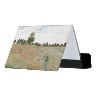 Monet Poppy Field Flowers Business Card Holder Desk Business Card Holder