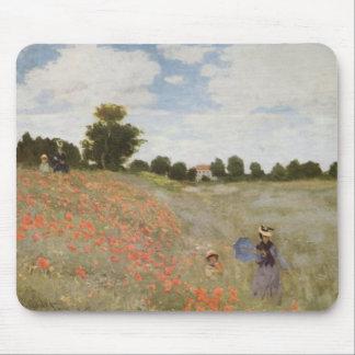 Monet  Poppy Field Mouse Pad