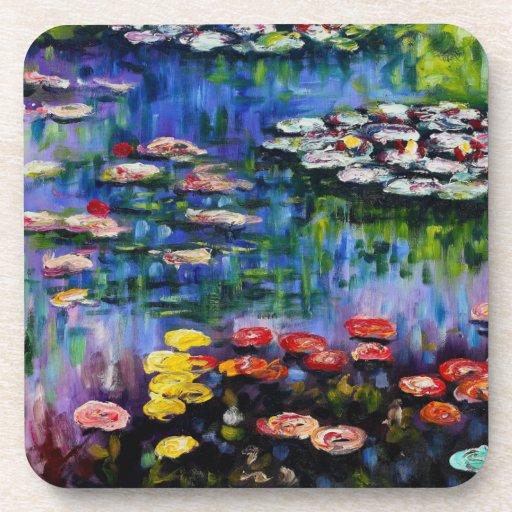 Monet Purple Water Lilies Coasters