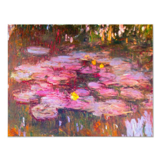 Monet Purple Water Lilies Invitations