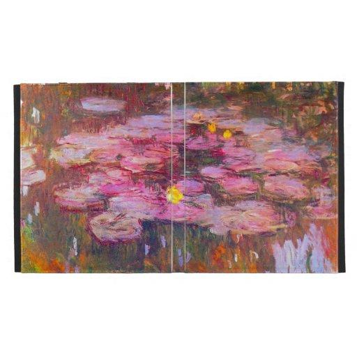 Monet Purple Water Lilies iPad Case