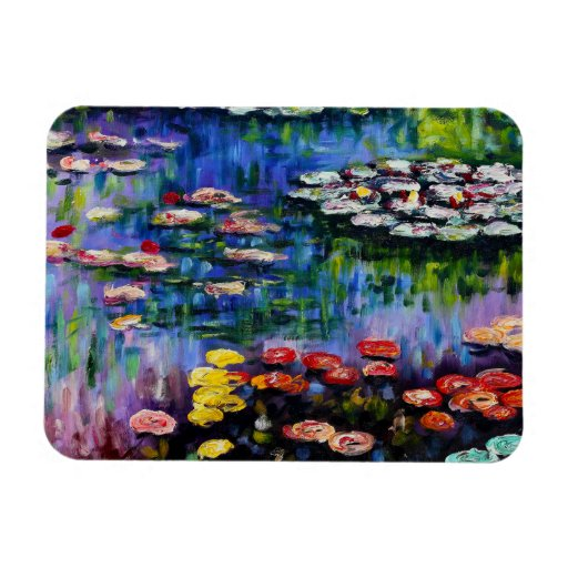 Monet Purple Water Lilies Magnet
