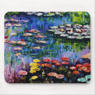 Monet Purple Water Lilies Mouse Pad