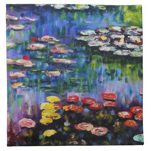 Monet Purple Water Lilies Napkins