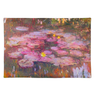 Monet Purple Water Lilies Placemat