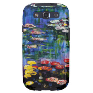 Monet Purple Water Lilies Samsung Galaxy Case Samsung Galaxy S3 Cover