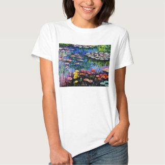 Monet Purple Water Lilies T-shirt
