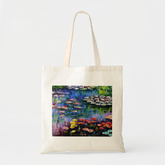 Monet Purple Water Lilies Tote Bag
