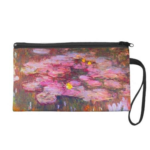Monet Purple Water Lilies Wristlet