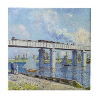 Monet: Railway Bridge at Argenteuil Ceramic Tile