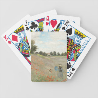 Monet Red Poppy Field Wildflowers Playing Cards