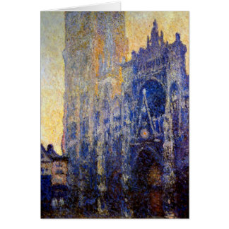 Monet - Rouen Cathedral, Morning Effect Card