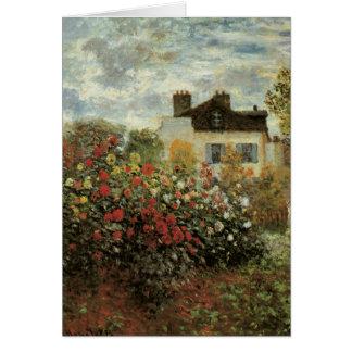 Monet s Garden at Argenteuil Vintage Impressionism Cards
