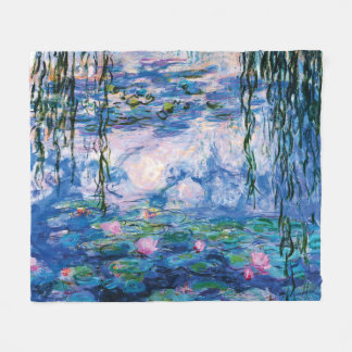 Monet's Water Lilies Fleece Blanket